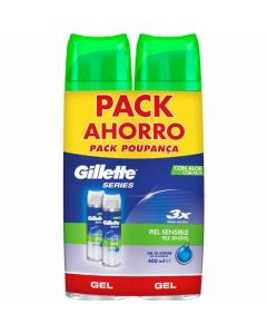 Espuma afeitar pack ahorro piel sens gillette p2x250ml