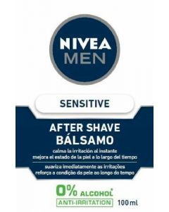 Bálsamo after shave sensitive para piel sensible nivea men 100ml