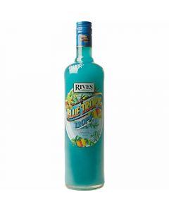 Licor blue tropic rives botella 1l