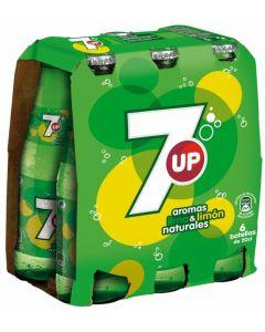 Refresco de lima-limón seven up botella pack de 6 unidades de 20cl