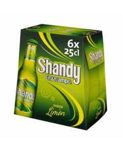 Cerveza shandy cruzcampo pack de 6 unidades de 25cl