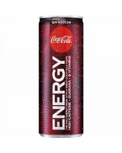 Bebida cola zero coca cola energy lata 25cl