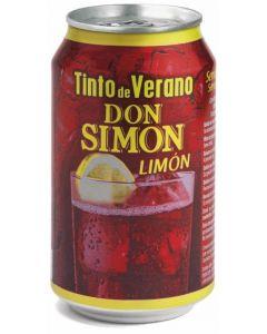Tinto de verano limón don simon lata 33cl