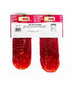 Chorizo de pavo mas lonchas pack de 2 unidades de 75g