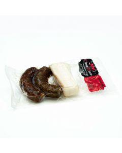Chorizo iberico , morcilla iberica  y tocino iberico para guiso nieto martín 360g