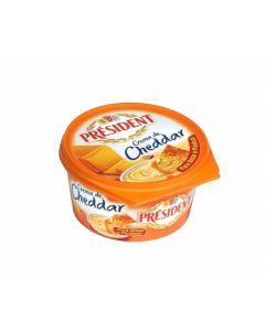 Crema de queso cheddar president 125g