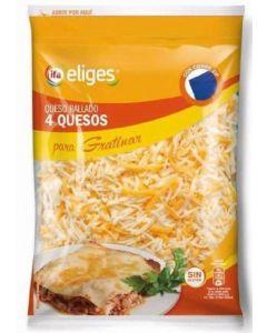Queso rallado 4 quesos ifa eliges 200g