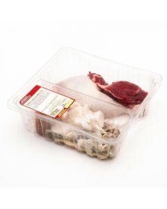 Arreglo para puchero ternera y pollo moreno plaza bandeja 1,2kg aprox.