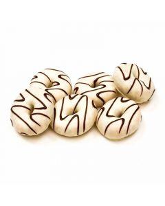 Oferta mini hoops rayados white pack de 6 unidades de38g