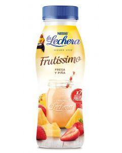 Yogur liquido fresa-piña frutissimo la lechera 330gr
