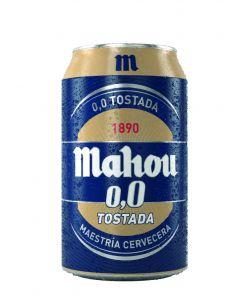 Cerveza 0,0% tostada mahou lata 33cl