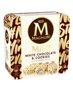 Helado mini chocolate  blanco y cookies magnum p6x55ml