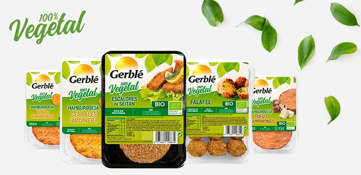 Gerblé productos 100% vegetal
