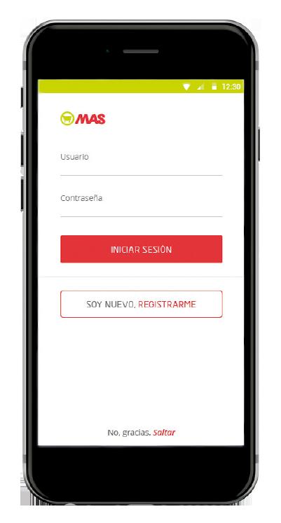 Detalle App Club MAS Iniciar Sesión